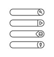 flat web design elements buttons icons templates vector image vector image