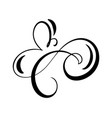 floral calligraphy element flourish hand vector image vector image