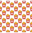 French fries pattern seamless vector image vector image
