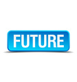 Future blue 3d realistic square isolated button vector image