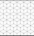 geometric abstract seamless pattern cube lines vector image