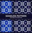 geometric shape batik seamless pattern background vector image