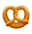 german pretzel mockup realistic style vector image vector image