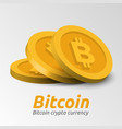 golden bitcoin symbols background vector image
