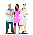group medical doctors and nurse vector image