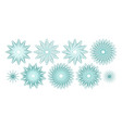guilloches or abstract snowflakes vector image vector image