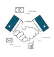 handshake outline vector image