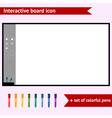 Interactive board vector image vector image