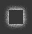 isolated dotted square frame on dark vector image