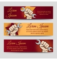 Labor day banner set vector image vector image