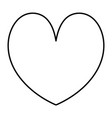 line beauty heart romance symbol style vector image vector image
