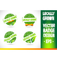 Localy grown Badge vector image vector image