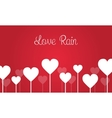 Love on red backgrounds for valentine days vector image