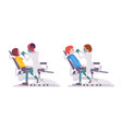 male and female dentist doctor vector image vector image