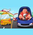 man driving a car vector image vector image