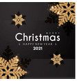 merry christmas and happy new 2021 year elegant vector image