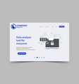 new trendy website landing page theme template vector image vector image