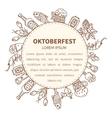 Oktoberfest invitation template vector image vector image