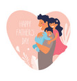 portrait a father with son and daughter poster vector image
