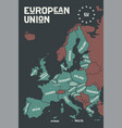 poster map of the european union with country vector image vector image
