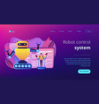 remotely operated robots concept landing page vector image vector image