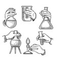 retro chemical experiments vector image