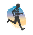 running men isolated runner symbol keep vector image