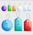sale tags design collection hanging vector image vector image