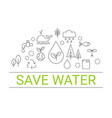 save water concept save water concept vector image