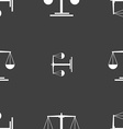 scales Icon sign Seamless pattern on a gray vector image vector image