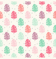 seamless geometric floral pattern with vector image