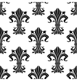 Seamless pattern of black fleur-de-lis flowers vector image vector image