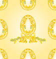 Seamless texture Easter eggs vector image
