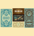set of 5 vintage labels layered vector image vector image
