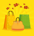 shopping bags with handbag to sale discount vector image vector image