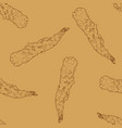 shrimp tempura seamless pattern vector image