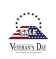 sign veterans day on white background vector image vector image
