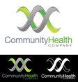 Social community health company icon logo vector image vector image