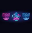 space nightclub logo in neon style neon sign vector image vector image