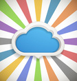 Speech cloud template with the color rays vector image vector image