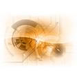 tech background orange gloss vector image vector image