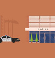 the police facade of the building vector image vector image