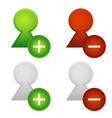 user icons add remove user vector image vector image