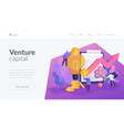 venture investment landing page template vector image vector image