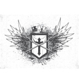 Vintage emblem with crest vector | Price: 1 Credit (USD $1)