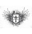 vintage emblem with crest vector image vector image