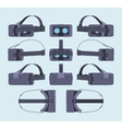 Virtual reality headset vector image vector image