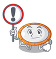 with sign trampoline jumping shape cartoon vector image vector image