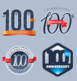 100 Years Anniversary Logo vector image vector image