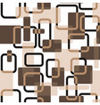 abstract squares seamless vitage beige vector image vector image